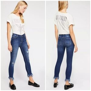 FREE PEOPLE Great Heights Frayed Skinny Jeans 28